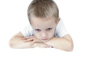 ילד עם חרדה